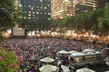 A free movie screening will take place on the park's lawn every Monday at 5 p.m. through Aug. 18.