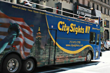 A CitySights NY tour bus struck a 74-year-old woman who was crossing Seventh Avenue at West 14th Street June 18, 2014, according to officials.