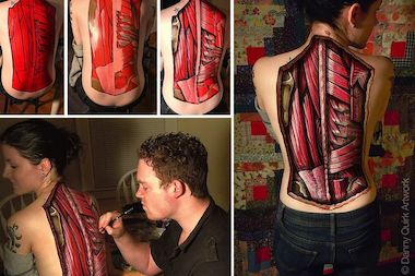 Danny Quirk is one of several artists participating in the Emerging Artists Festival in Long Island City on Friday. He is known for his anatomical body paintings.