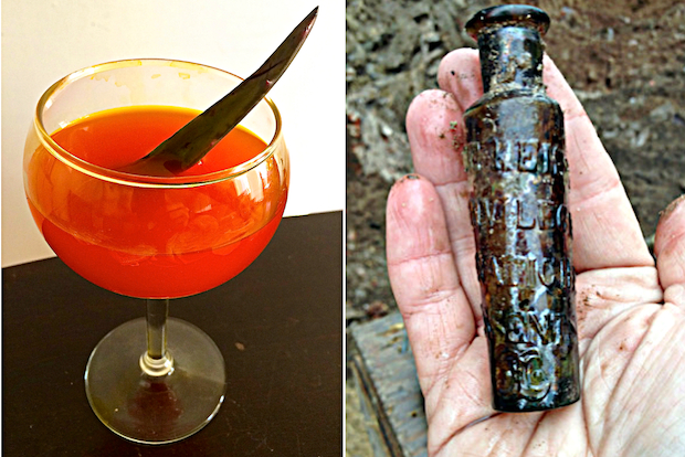 Archaeologists tracked down the German recipe after finding a tiny glass bottle beneath a Bowery site.