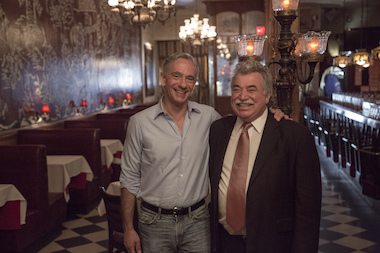 Chelsea Hotels CEO Ed Scheetz, left, bought El Quijote from longtime owner Manny Ramirez, right.