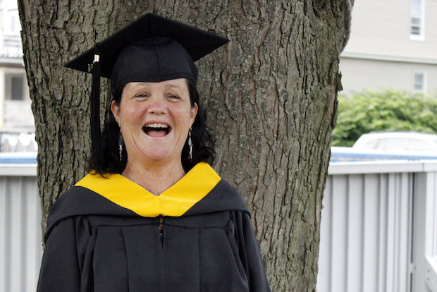 Ellen Sautner, 54, graduates Monday with her bachelor's degree after nearly a decade.