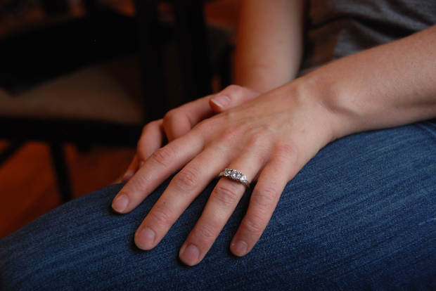 Rhiannon O'Leary lost her ring last week but good Samaritan Simone Duff found and returned it to her.