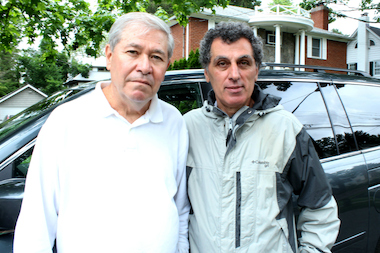 Turkish immigrant Mel Kalyoncu (right) gave his friend George Arnold (left) and his wife a ride to Kennedy airport. After the Arnolds went into the airport, TLC inspectors accused him of being an illegal livery cab driver. Inspectors issued Kalyoncu a ticket and seized his car.