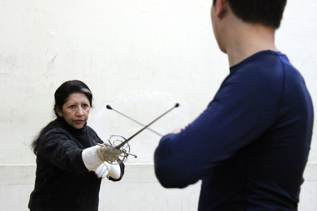 Students train at the Martinez Academy of Arms during one of its last weeks at 330 Broome St., where the fencing school has been located for 25 years.