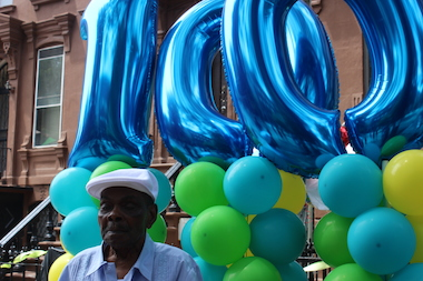 Egbert King turned 100 on June 13. Friends and family celebrated during a block party on Saturday.