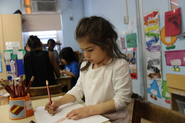 The Children's Aid Society East Harlem Center is a community-based early childhood education center that offers pre-K.