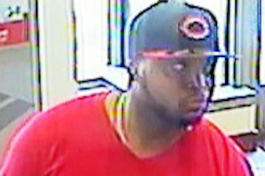 Police are looking for this man, who they say tried to rob five banks over a four-hour span Monday.