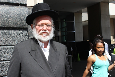"Rabbi Nuchem Rosenberg said the judge's choice to demand that Rosenberg's attacker, Meliech Schnitzler, ask for forgiveness in court was ""nonsense."""