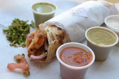 Desi Shack offers South Asian cuisine served in an assembly-line format.