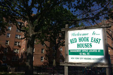 Red Hook Houses East, one half of Brooklyn's largest public housing complex.