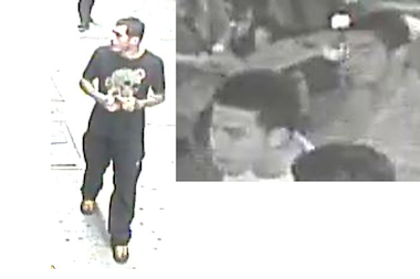 Police are looking for three men they say attacked another man at the Aladdin Hookah Bar at 109-08 Liberty Avenueon June 10.
