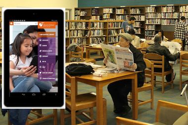 Queens Library is now lending free Google tablets with a library card from the Central Library in Jamaica.