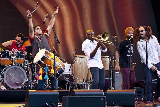 The brass and Bhangra band Red Baraat will lead a live, collaborative music concert at Grand Army Plaza on Saturday, June 21 as part of Make Music NY.