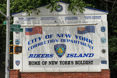 Rikers Island is located between the South Bronx and northern Queens in the East River.