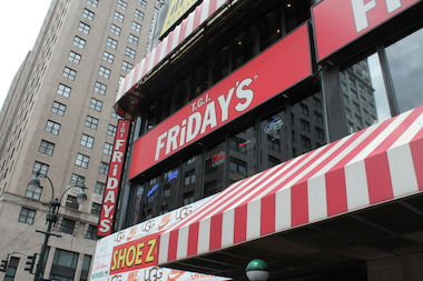 The TGI Friday's on Eighth Avenue, across from Madison Square Garden, will close in September.
