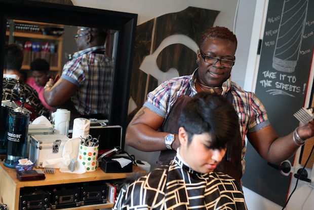 Khane Kutzwell works out of an apartment on Easter Parkway and is fundraising to open an LGBT-friendly barbershop in Crown Heights.