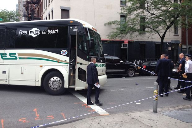The victims were crossing at the intersection of West 47th Street and 10th Avenue Monday morning, FDNY officials said.