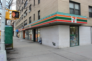 One woman stabbed another in the ear after they exchanged punches in a Third Avenue 7-Eleven.