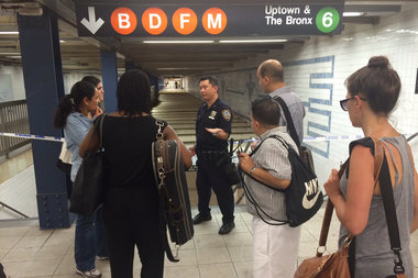 A man died in a SoHo subway station Thursday afternoon, officials said.