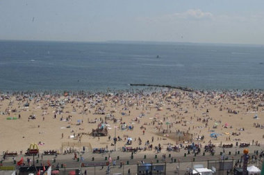 Coney Island is one of five beaches placed under a no-swim advisory.