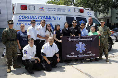 The members of the Corona Volunteer Ambulance Corps are accused of stealing more than $300,000.