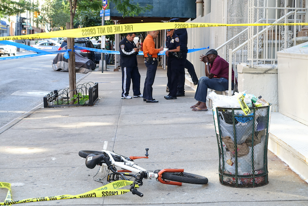A 13-year-old boy was seriously hurt when he was hit by a cab while out riding his bike, police said.