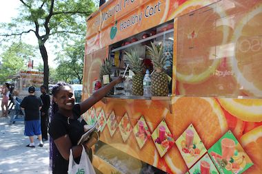 Food trucks offering Caribbean dishes and juices and smoothies will make regular stops on 71st Avenue.