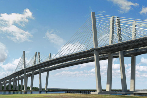 The new Goethals Bridge opened its first of two spans to drivers over the weekend.