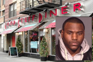 Police said David Jones (inset) shot a 23-year-old man at the Good Stuff Diner in Chelsea on July 1.