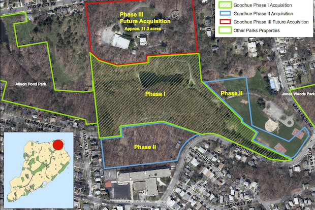 The city funded the acquisition of the third, and final, batch of land in Staten Island's Goodhue Park from the Children's Aid Society in the executive budget.