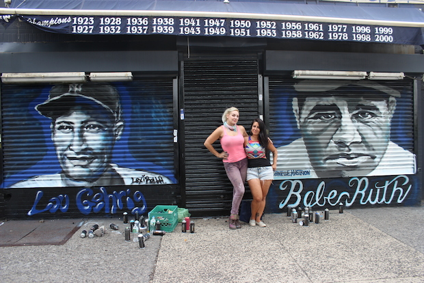 Yankee legends Babe Ruth and Lou Gehrig have received murals along River Avenue.