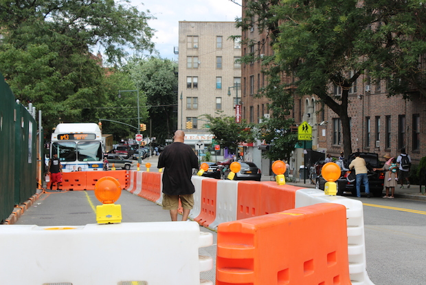 Residents on a busy block in Prospect-Lefferts Gardens found their on-street parking almost entirely removed by a newly constructed streetscape last week.