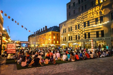 A series of international films will be shown outdoors at the South Street Seaport.