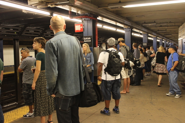 "The L train faced ""extensive delays"" Friday morning after a service suspension."