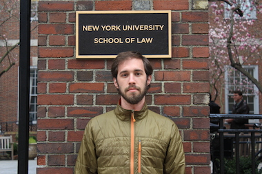 Luke Herrine, one of the NYU Law students subpoenaed by companies owned by a former law school trustee.