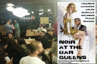 Noir at the Bar: Queens will be happening Thursday, Aug. 7 at Odradeks Coffee House and Wine Bar in Kew Gardens.