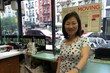 Suikown Cho, owner of Piermont Cleaners. After almost three decades operating at 80th Street and Second Avenue, Piermont Cleaners is moving out at the end of July 2014.