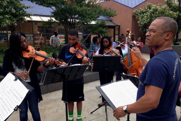 The Noel Pointer Foundation will perform through July at Bed-Stuy's Marcy Plaza Farmers Market.