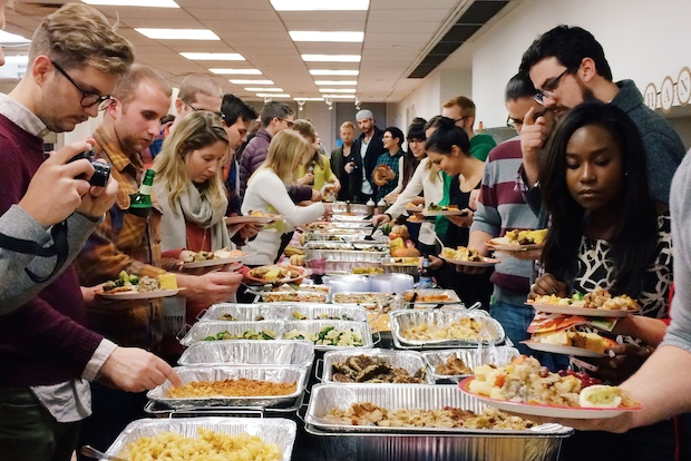 The free lunch perk is popular at many creative companies as a way to help productivity and happiness.