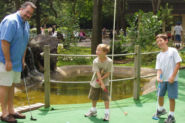 It's not just about baseball and tennis at Flushing Meadows, where you can play golf, drink beers and visit museums.