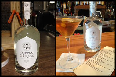 The Astoria Distilling Company's Queens Courage Gin is now for sale at Astoria Wine and Spirits, and is available at local bars Bourbon and Vine and Bowery Bay.