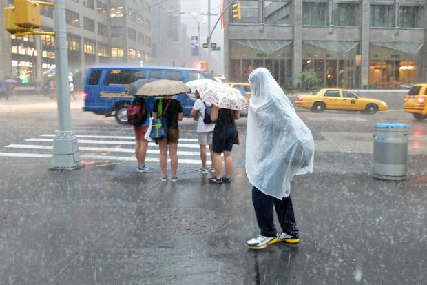 Severe thunderstorms could roll through the city Monday afternoon, forecasters said.
