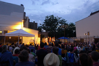 "South Brooklyn Shakespeare perform ""A Midsummers Night's Dream"" in the summer 2013. They are producing three free performances of ""Romeo and Juliet"" in Park Slope this summer."