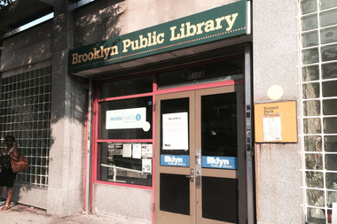The Sunset Park branch of Brooklyn Public Library is located at Fourth Avenue and 51st Street.
