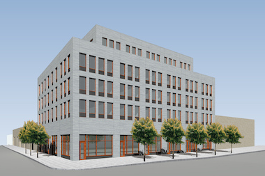 Architect Gene Kaufman proposed a development for 100 Bogart St. inspired by nearby industrial buildings.