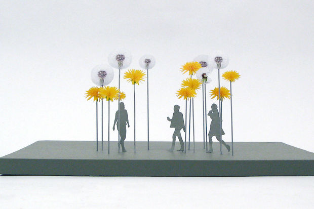 A dozen metal dandelions will brighten up West 97th Street, said artist Carin Mincemoyer.