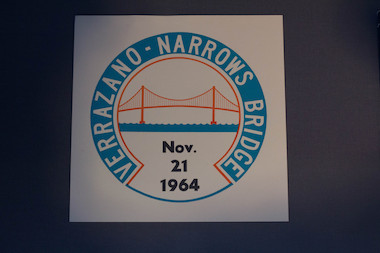 A parking sticker from the grand opening of the Verrazano-Narrows Bridge on Nov. 21, 1964.