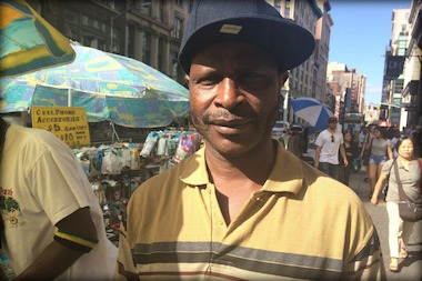 Street vendor Baare Batchiri is still recovering from his stabbing in June.