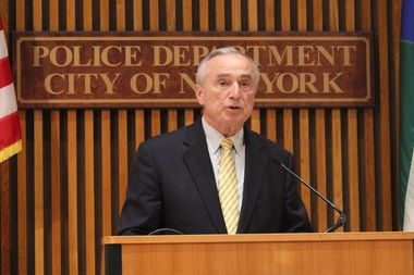 NYPD Commissioner Bill Bratton speaks at a press conference on Aug. 28, 2014.